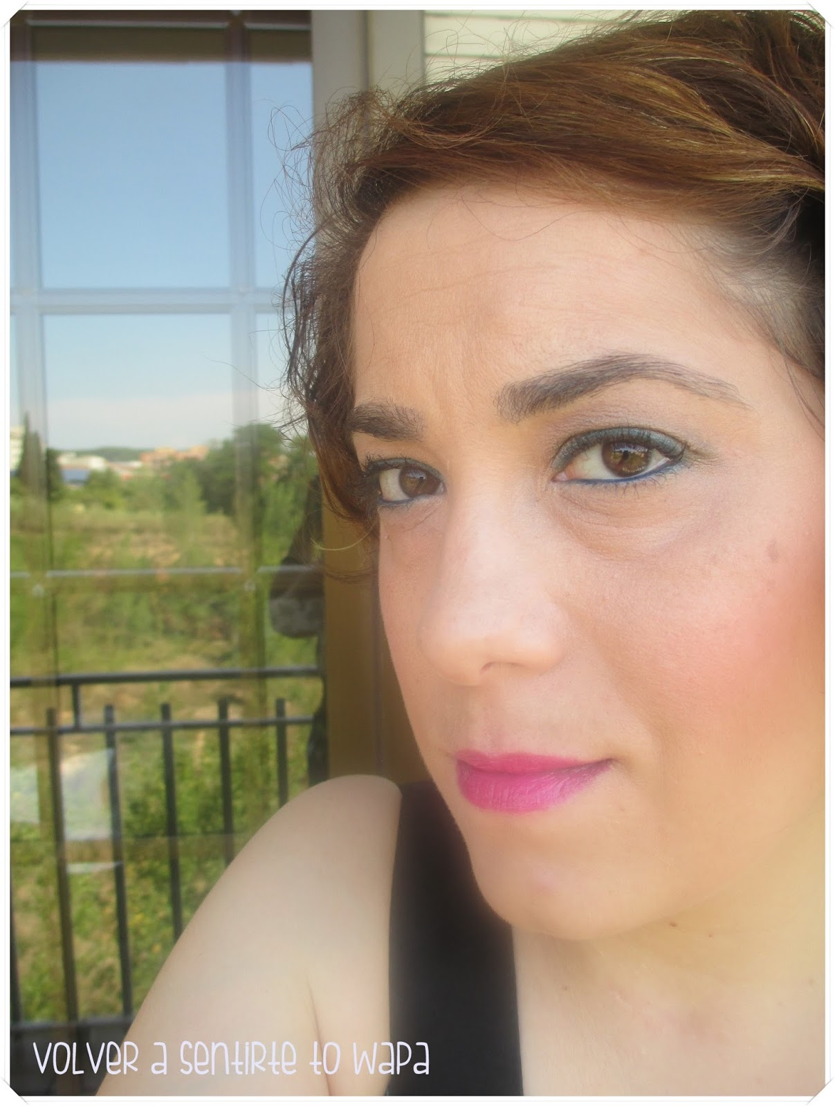 Maquillaje con un toque verde - Volver a Sentirte to Wapa