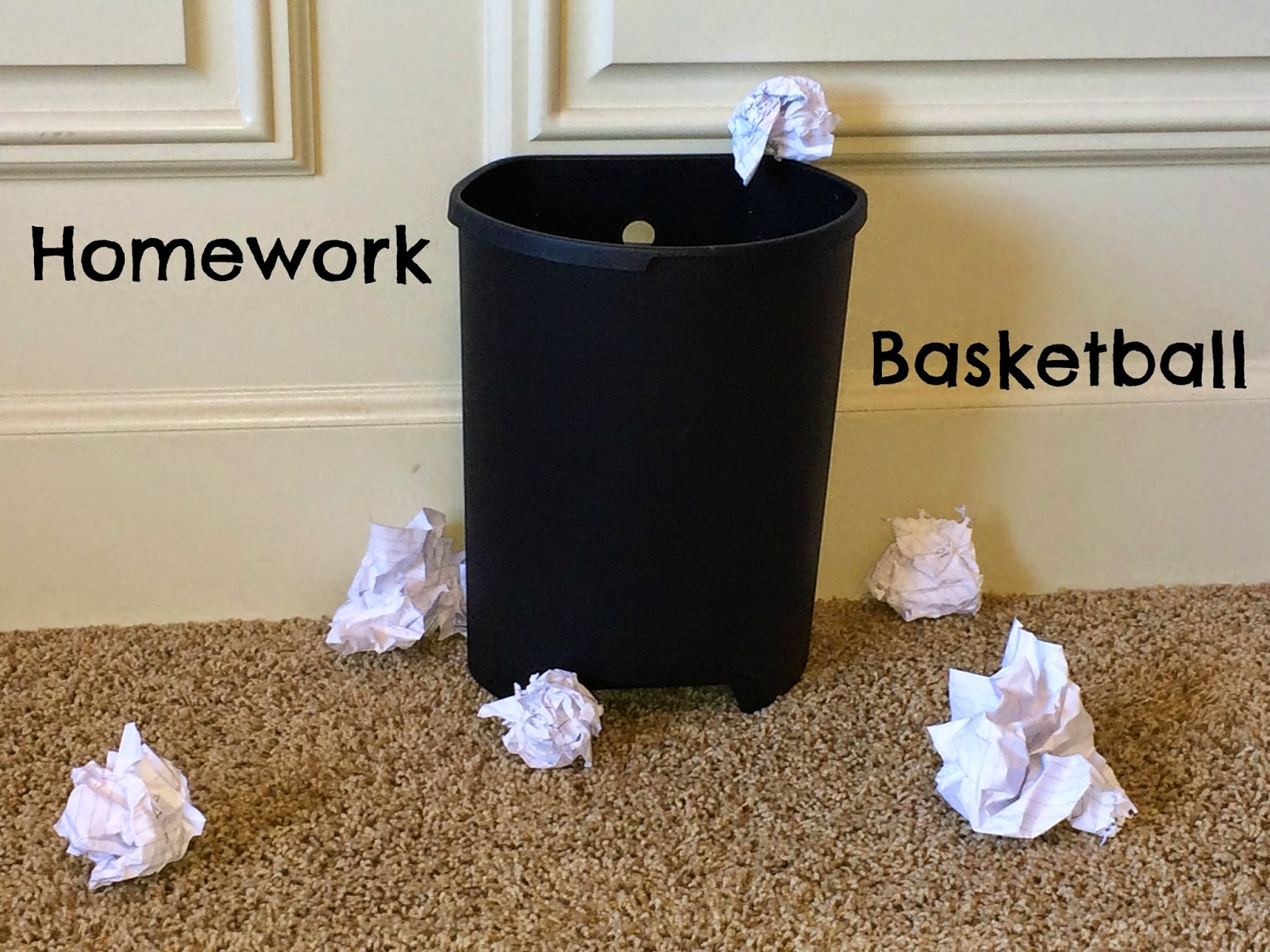 Planning playtime home work tip of the week home work basketball - Basketball waste paper basket ...