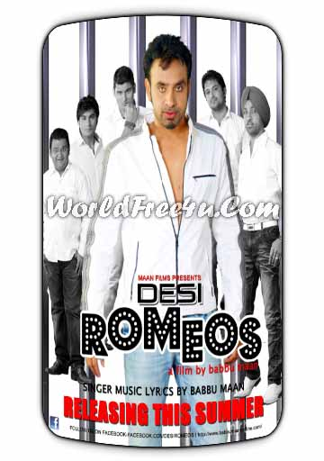 Poster Of Desi Romeos (2011) In 350MB Compressed Size PC Movie Free Download At worldfree4u.com