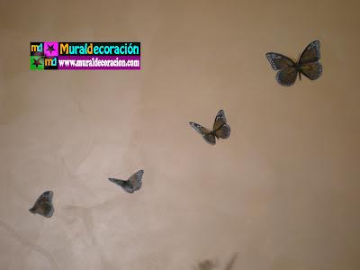 Aerografia Mariposas en vuelo