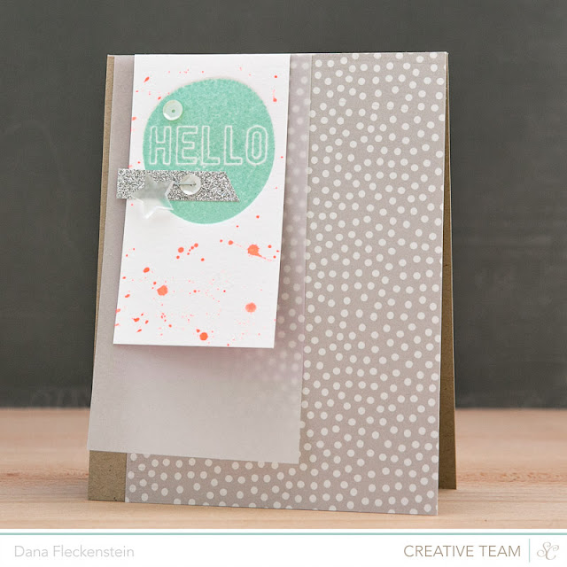 Letterpressed Hello card by @pixnglue for WCMD at StudioCalico.com