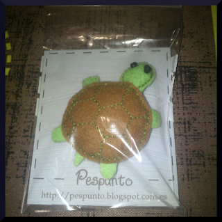 broche fieltro tortuga