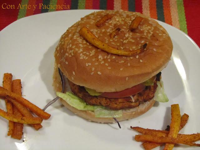 hamburguesas,vegetarianas,felices,legumbres,zanahorias,fritas,niños,sano,sna,receta,horno,verduras,cenas,americano,america,hamburguer,comida,rapida,lechuga,tomate,cebolla