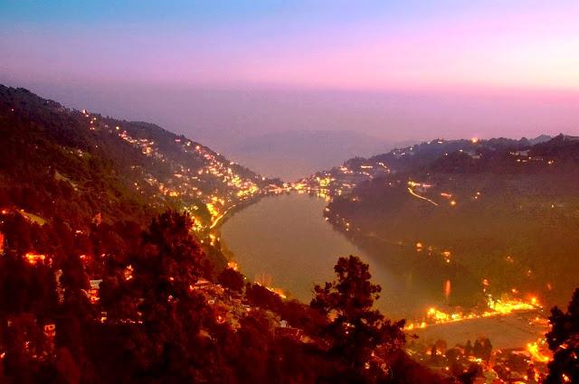 night view of Nanital city looks fabulous