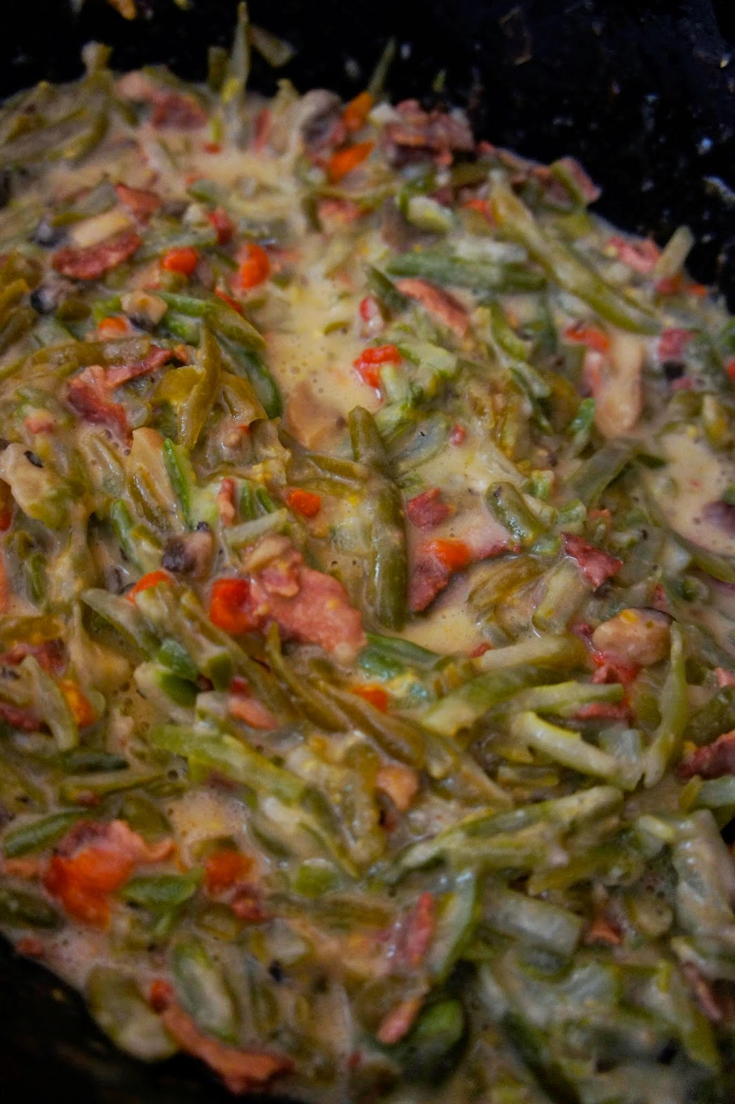 Green Beans with Bacon and Cheese Sauce: Savory Sweet and Satisfying