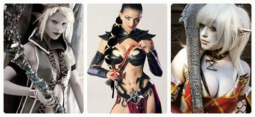 Disfraz de elfa oscura para Halloween collage