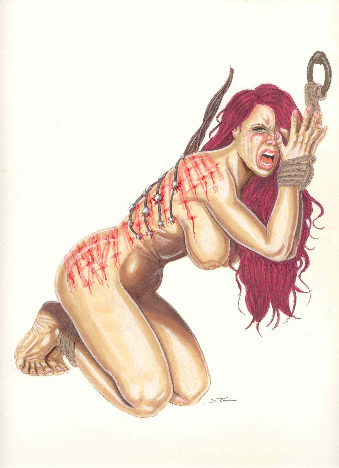 Naked women bloody scourged hentia booty