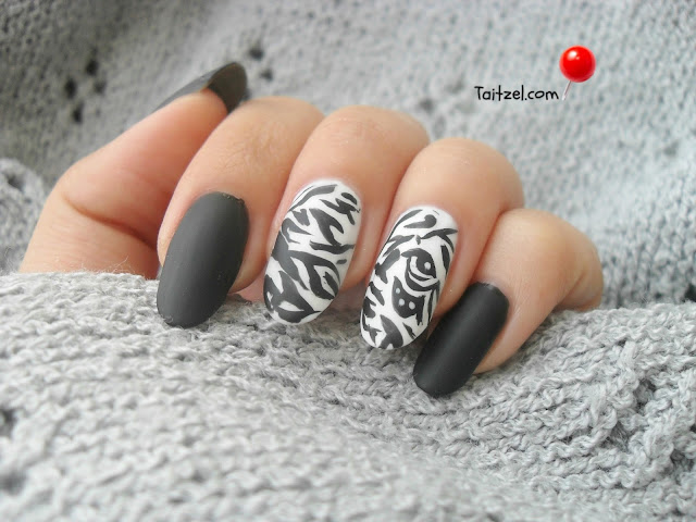 model de unghii animal print nail art
