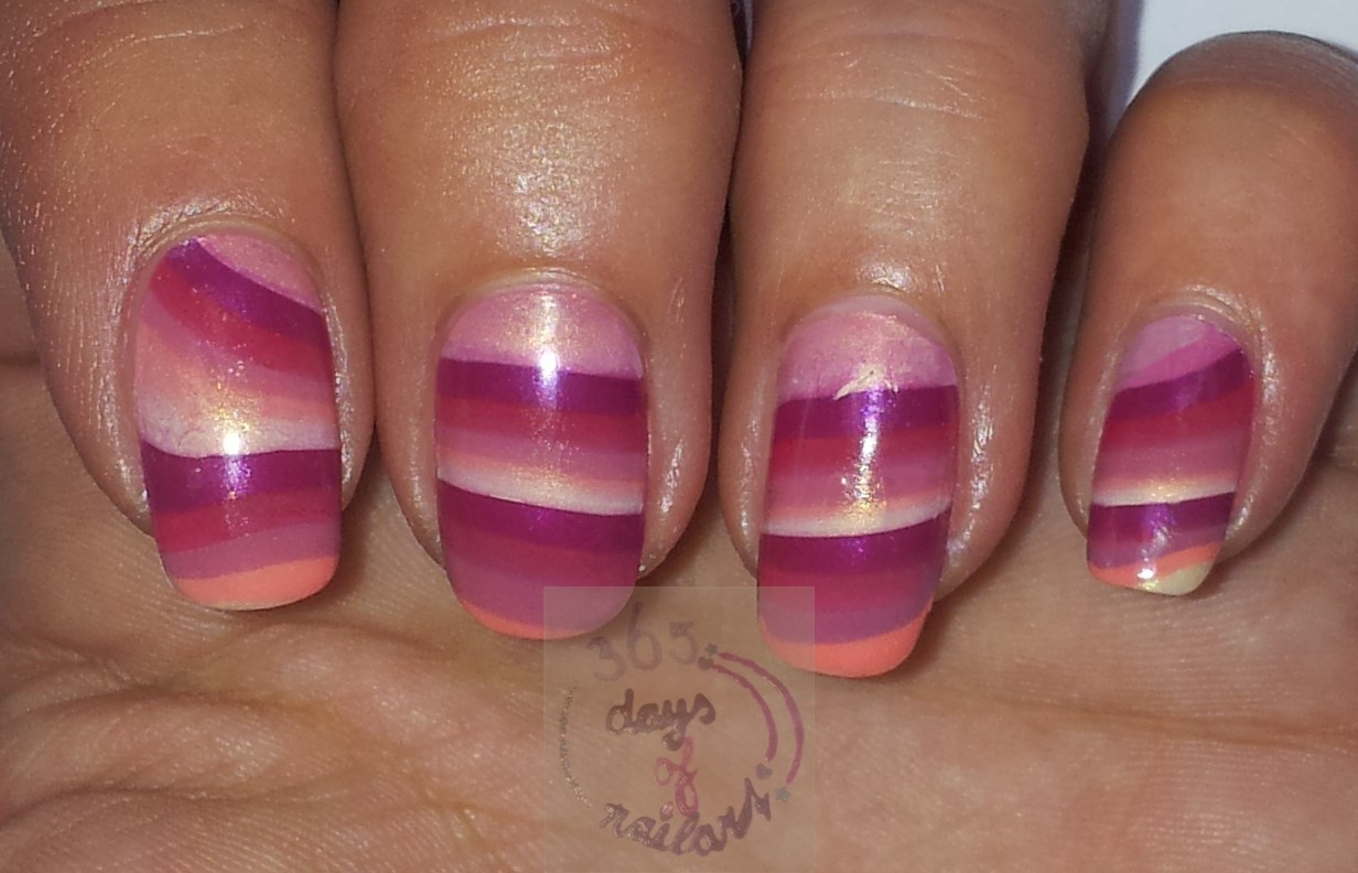 365+ days of nail art: Day 251) Psychedelic nail art