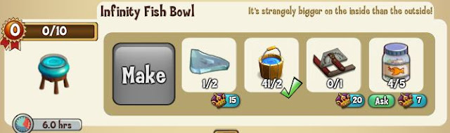 Infinity Fish Bowl Materials