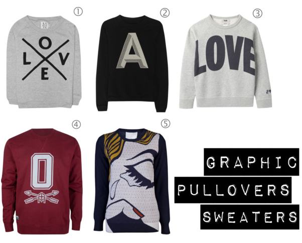 Graphic Pullover  Sweaters