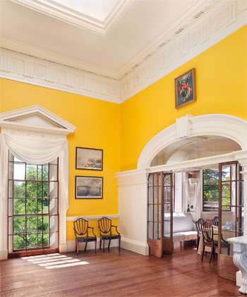 The devoted classicist historic paint color at monticello Bright yellow wall paint