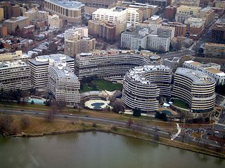 Watergate from the air. From wikipedia