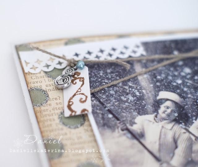 открытка с глиттером