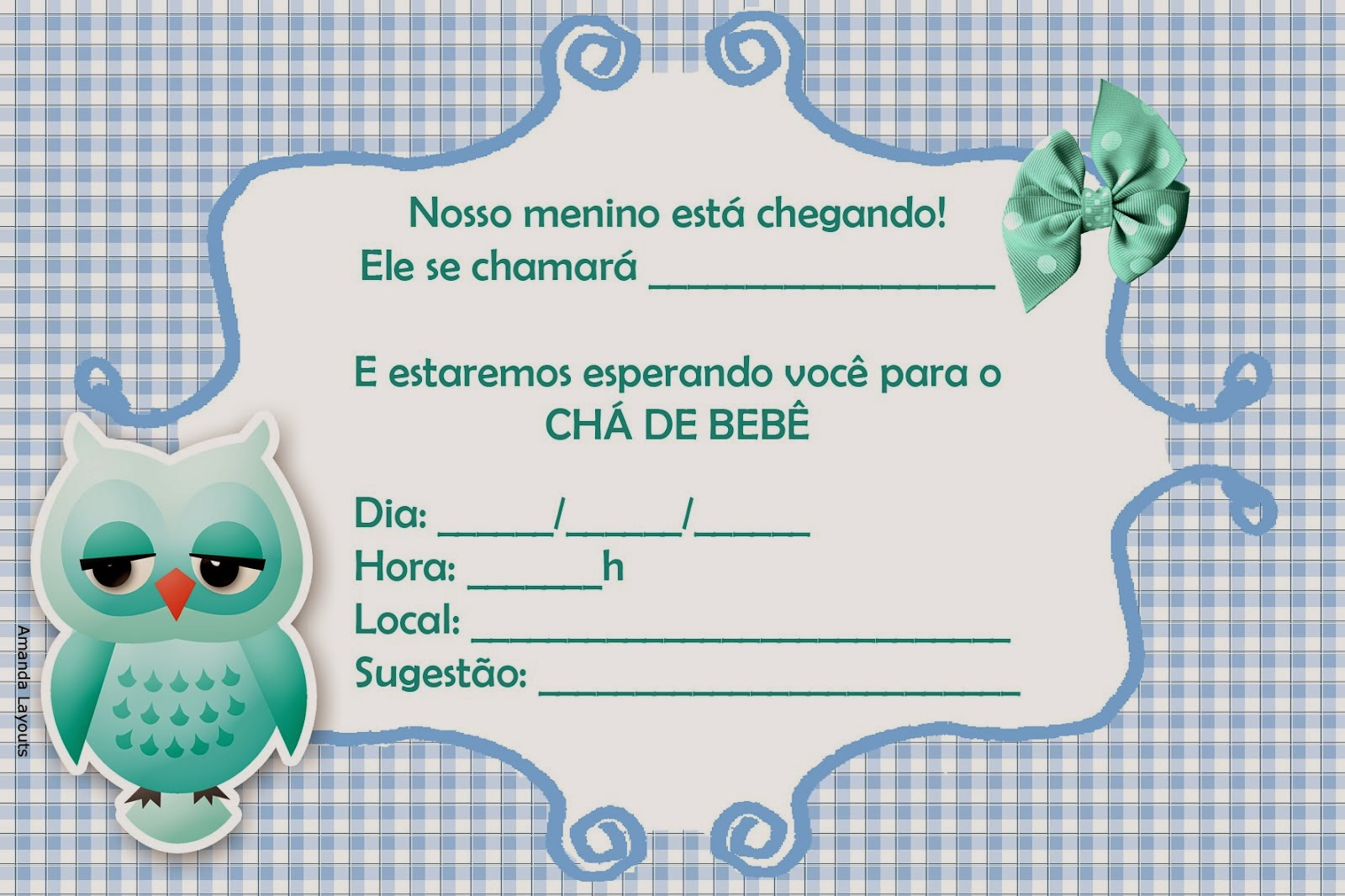 Convite para chá de bebê online 6