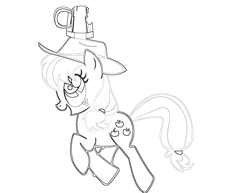 #25 My Little Pony Applejack Coloring Page