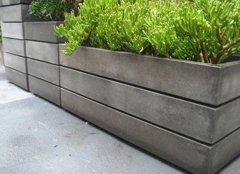 modern concrete planter - Modern DIY Autumn Chase Apartments