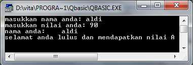 if%2Bthen end%2Bif - Statement Kondisi Pada Qbasic
