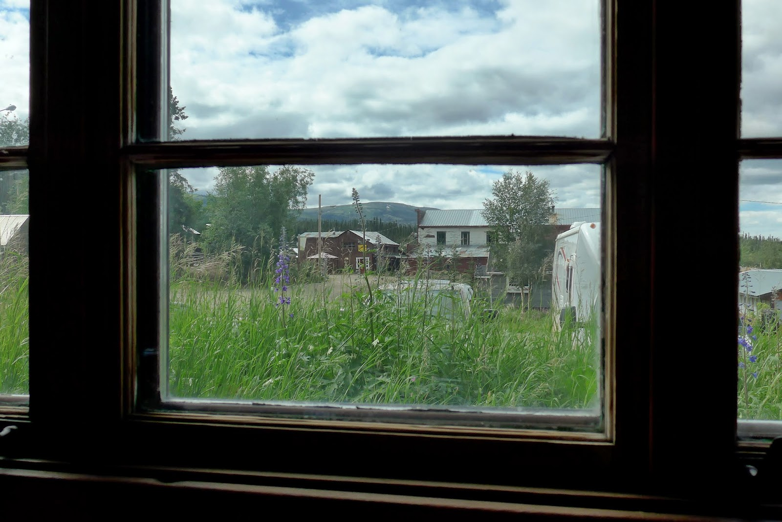 Keno City through an old window