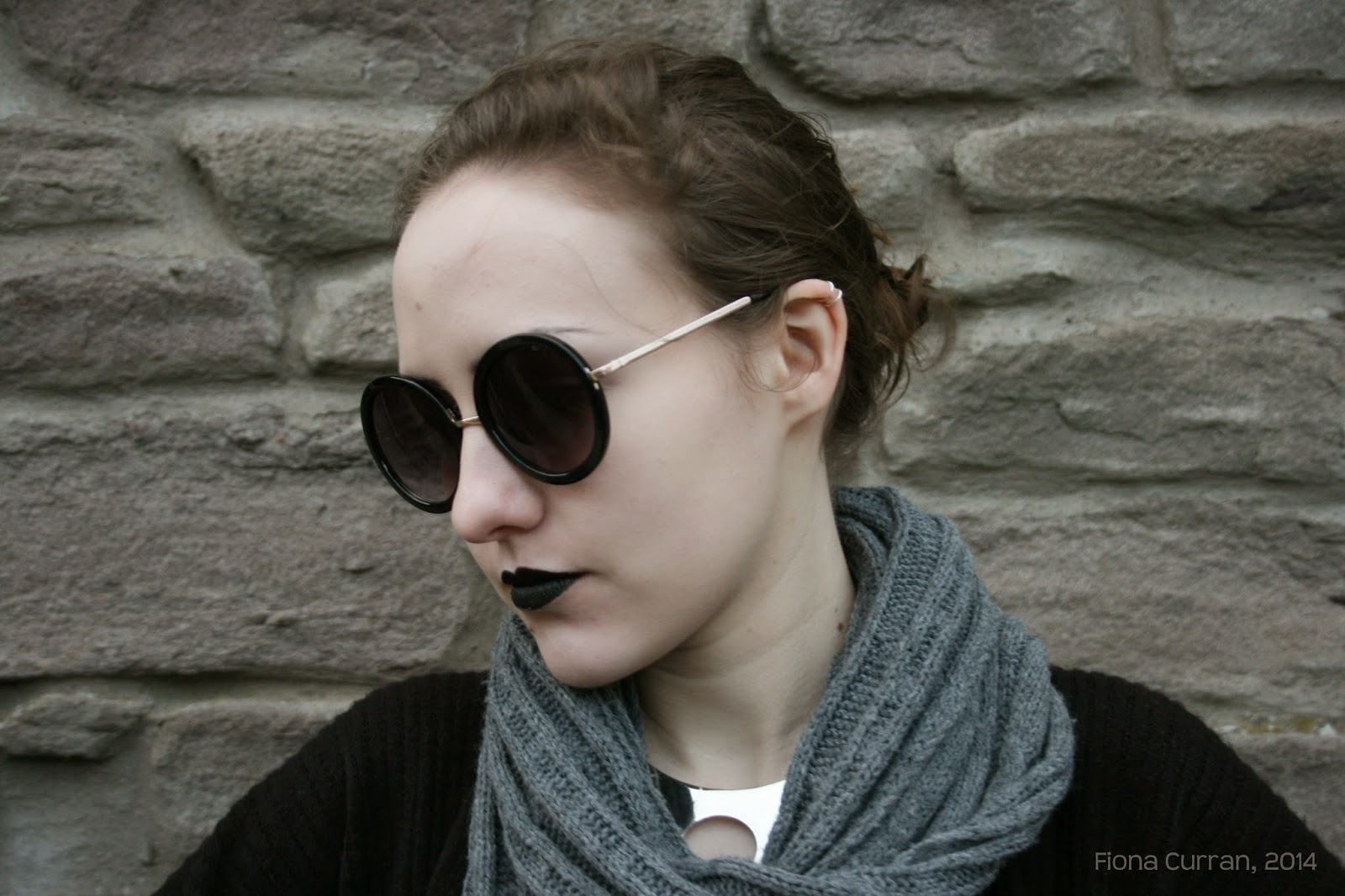 sunglasses, goth, round, fashion