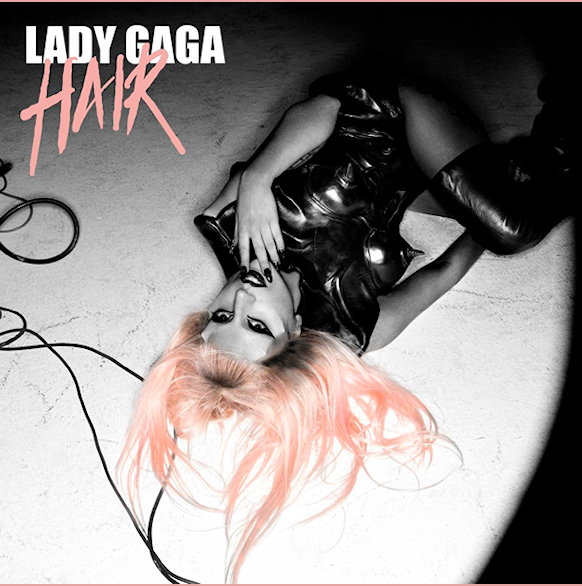 lady gaga hair single artwork. album lady gaga hair single.