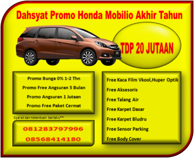 Dahsyat Promo Honda Mobilio  Akhir Tahun