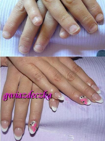 przedłużone paznokcie ślubne