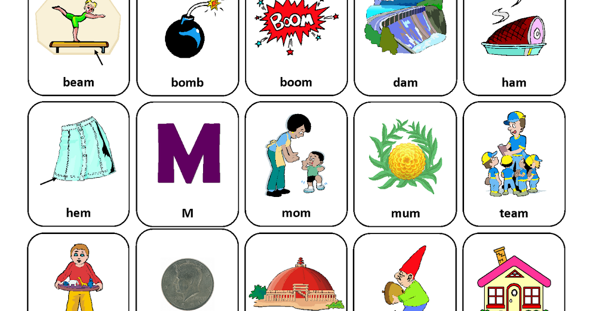 Letter Words Ending With M