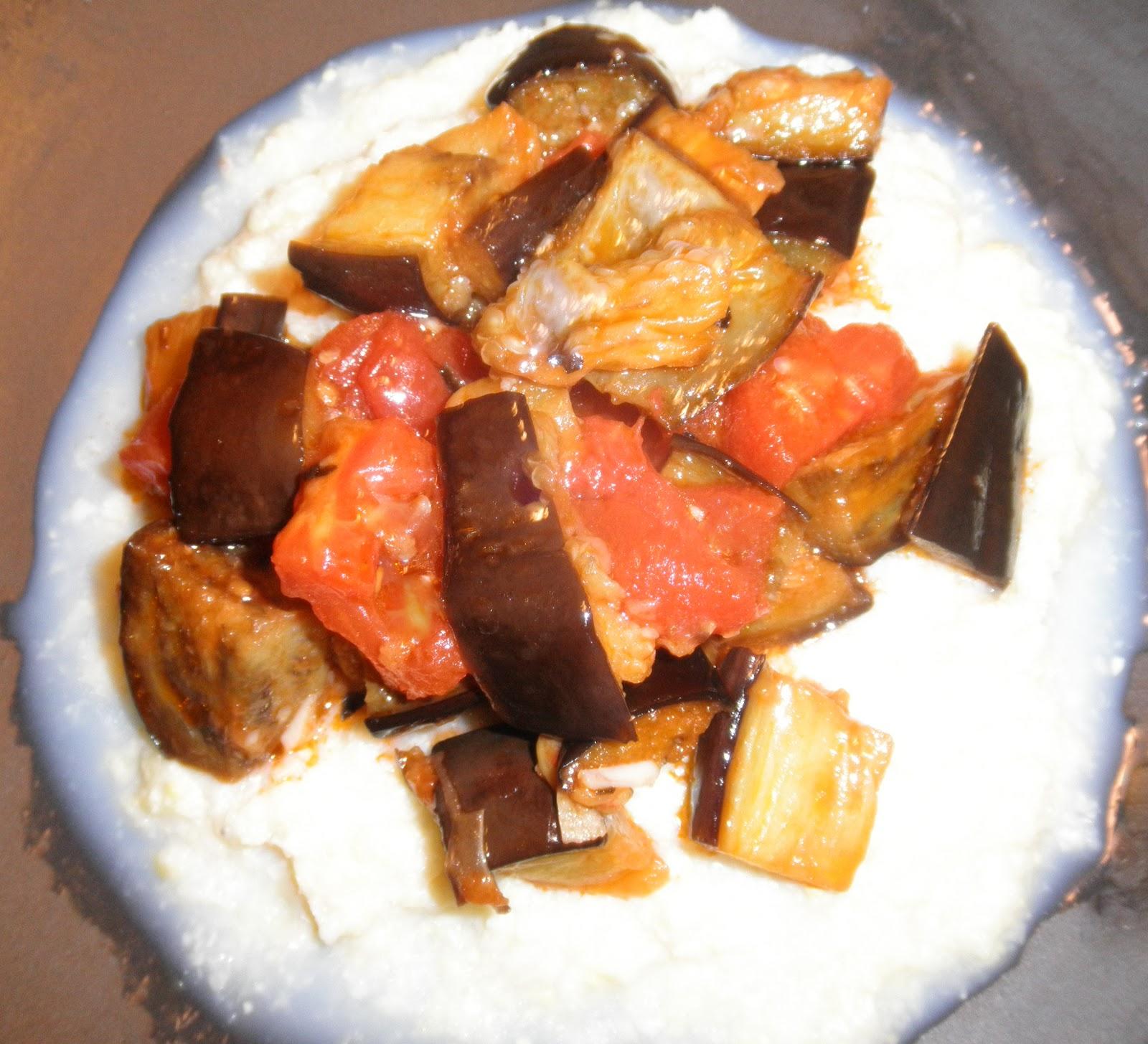 ... Heer's Culinary Corner: SWEET CORN POLENTA WITH EGGPLANT AND TOMATOES