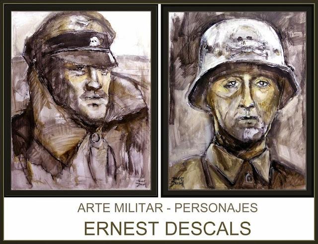 ARTE MILITAR-PINTURA-PERSONAJES-SOLDADOS-ALEMANIA-ARTISTA-PINTOR-ERNEST DESCALS