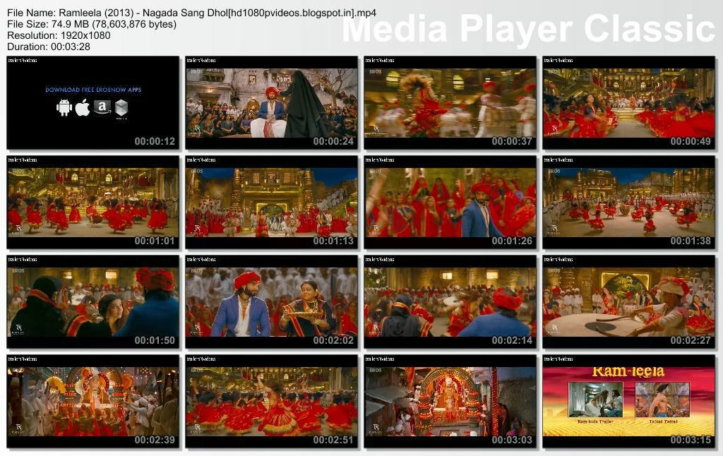 nagada sang dhol hd full video song download ramleela 2013