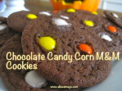 Alissamay's: Chocolate Candy Corn M&M Cookies