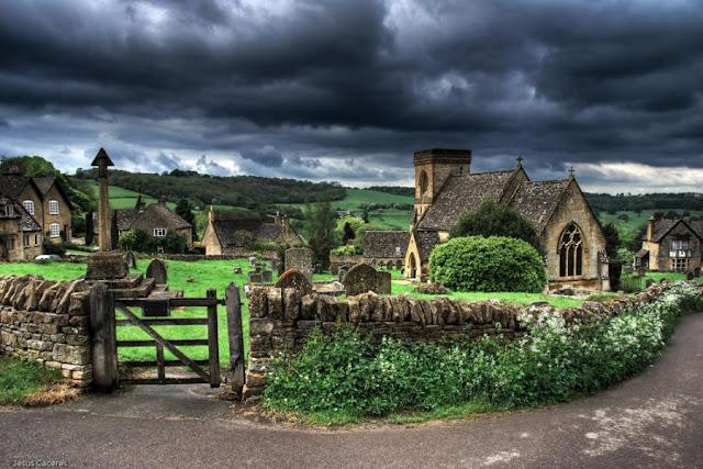 Cementerio en una villa inglesa