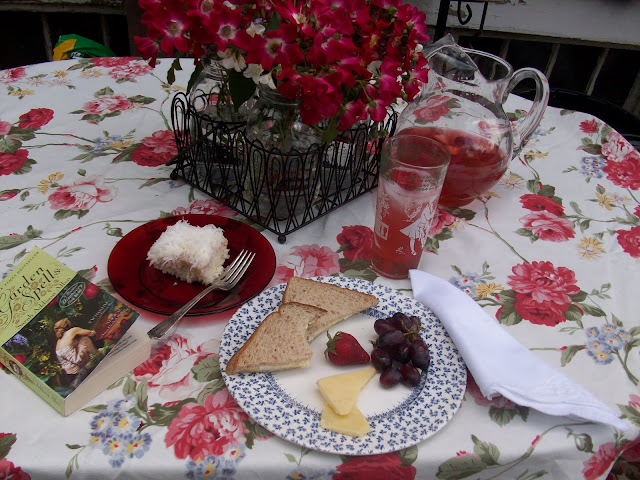 Dining Alfresco with Coconut cake