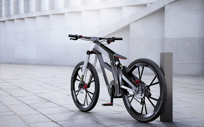 Electric Bike by Audi Modern Design E-Bike HD Wallpaper