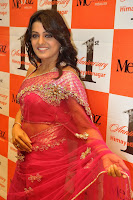 Actress Tashu Kaushik in aTransparent Pink Saree at Mebaz, Hyderabad