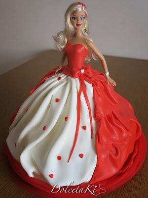 torta vestito rosso barbie