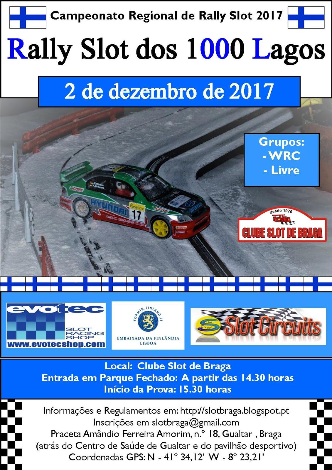 11.ª e última prova do Campeonato Regional de Rally Slot 2017