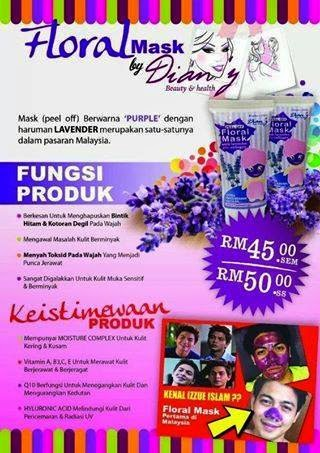 Floral Mask In The House..Harga murah2 je..