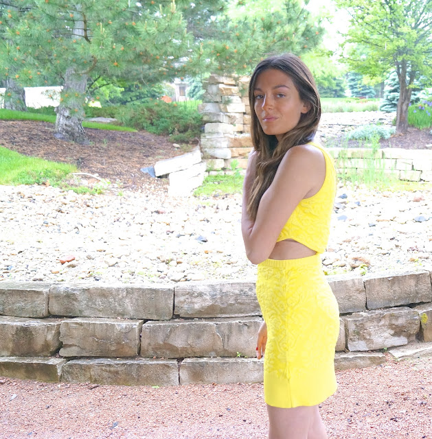 yellow cutout dress