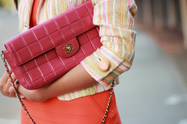 chanel pink classic flap