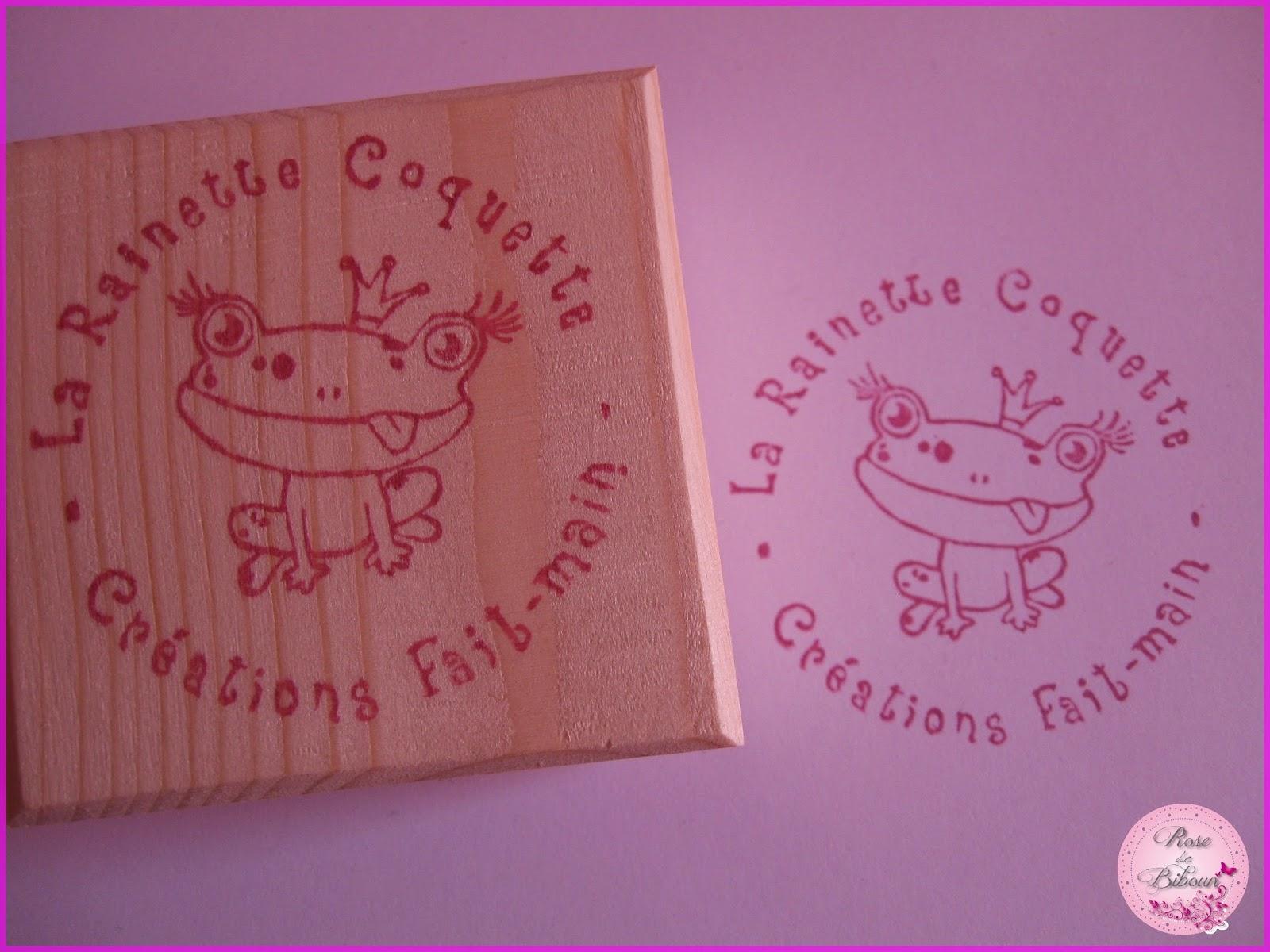 rose de biboun un tampon grav la main pour une grenouille. Black Bedroom Furniture Sets. Home Design Ideas