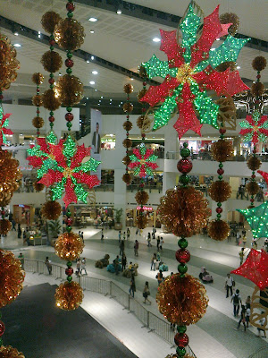 Christmas decorations in Trinoma Mall.