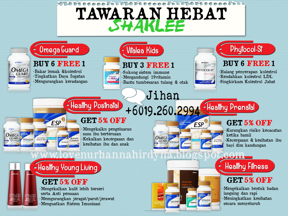 vitamin promosi shaklee may 2015