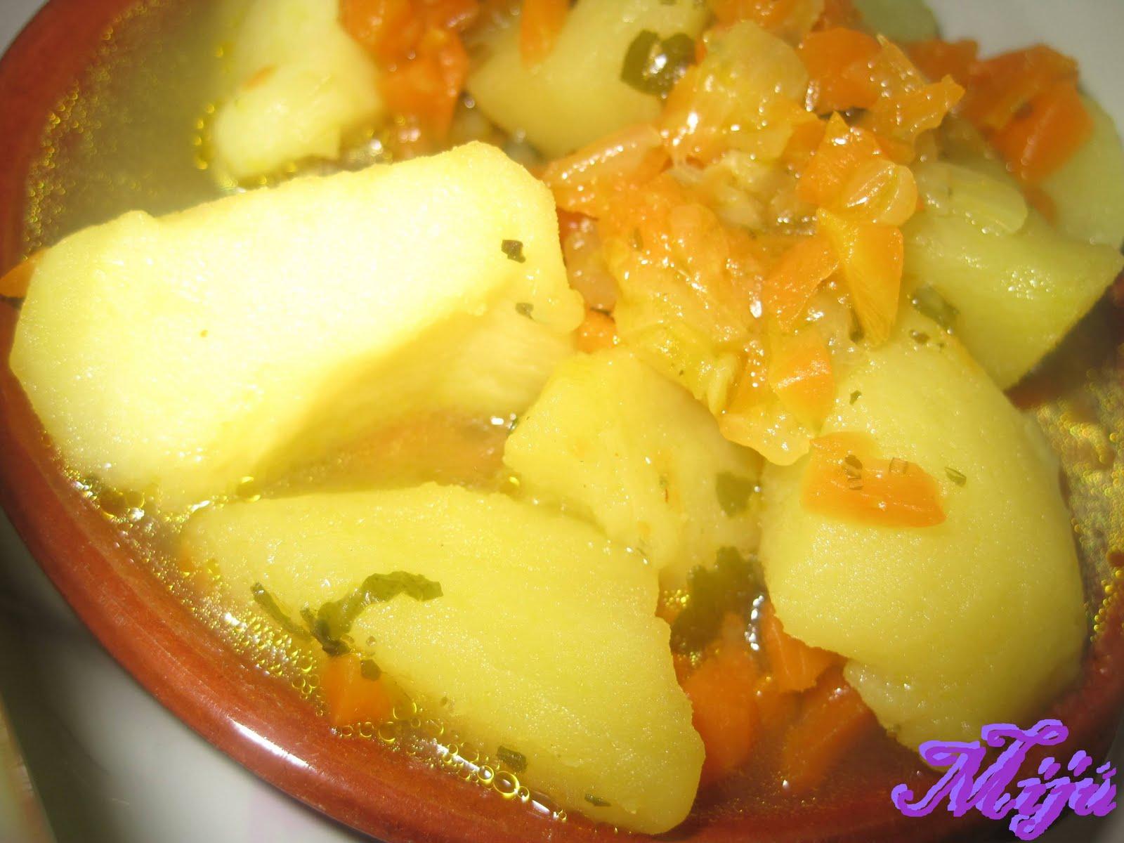 el bocado de la huerta patatas con algas y kuzu