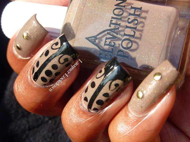 Lacquer Lockdown - Elevation Polish, Elevation Polish Everest 2, stamping, nail art, Elevation Polish Summit Collection #2, Messy Mansion, MM17,  holographic polish, studded nails, Mundo de Unas stamping polish, diy nail art, cute nail art ideas, cute spring nail art, new nail art ideas,