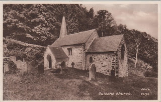 Vintage postcard of Culbone Church, Minehead, Somerset