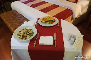 CrownPlaza hotel in Minsk - dinner