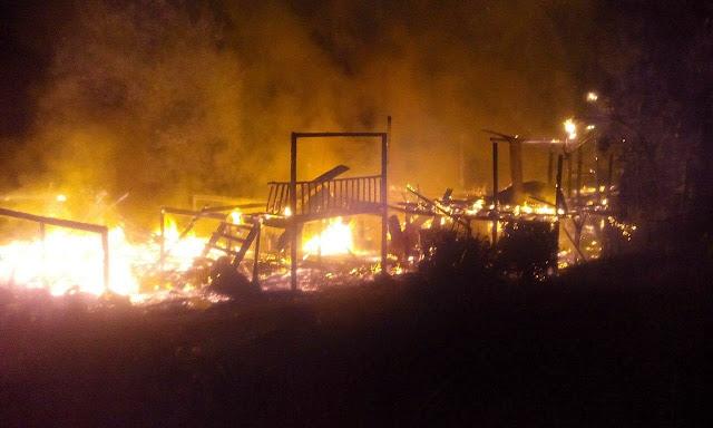 Tiga Rumah Musnah Dalam Kebakaran