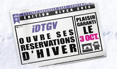 Billets iDTGV à partir de 19€